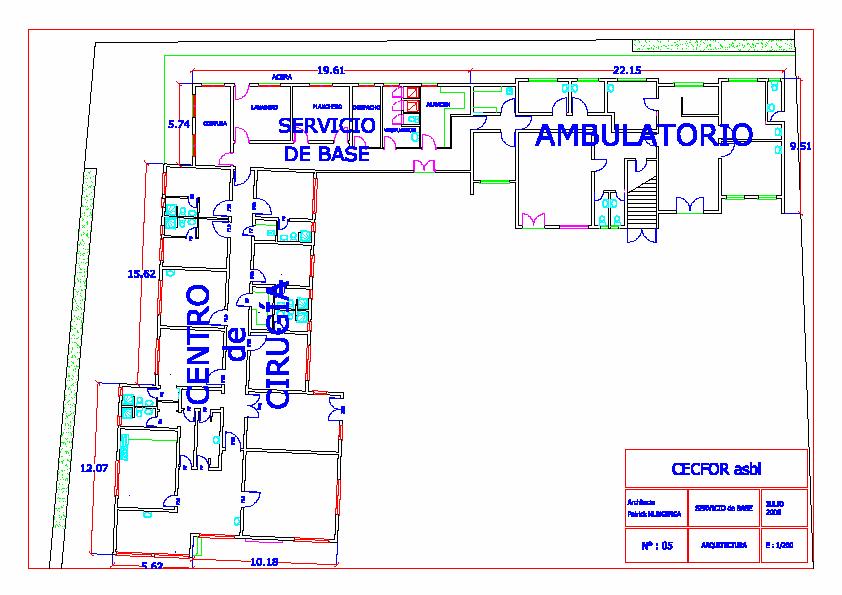 Plattegrond van de nieuwe polikliniek